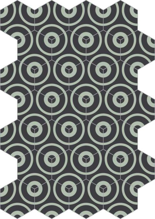 Bisazza Cementiles Couture Concentric Storm