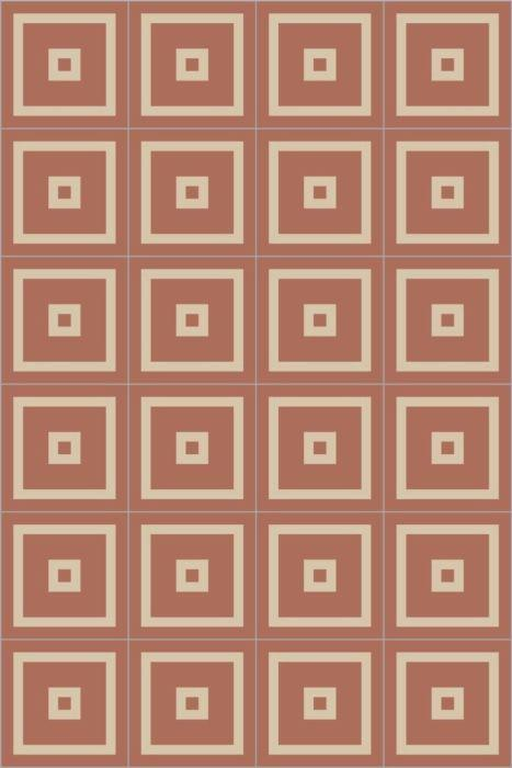 Bisazza Cementiles Couture Empire Tangerine
