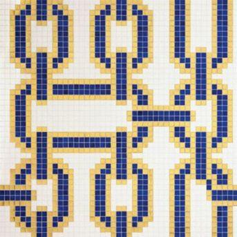 Bisazza Decori 20 Chains Blue