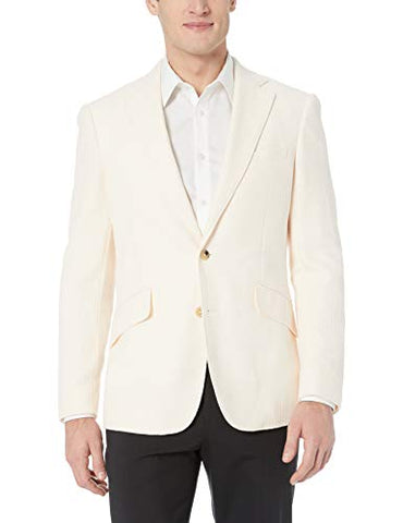 Robert Graham Men's LAUROS Tailored FIT Sportcoat, Ivory, 38