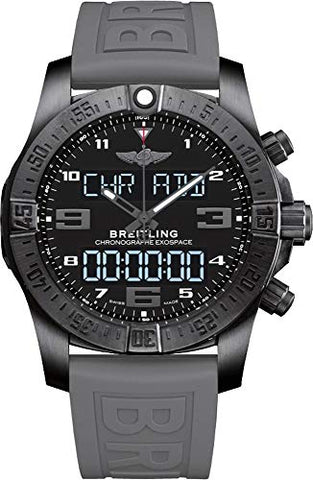 Breitling Men's Quartz Stainless Steel and Rubber Watch, Color:Black (Model: VB5510H2/BE45RD)