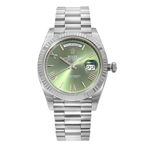 Rolex Day-Date 40 Silver Quadrant Motif Dial 18K White Gold President Automatic Mens Watch 228239SQRSP