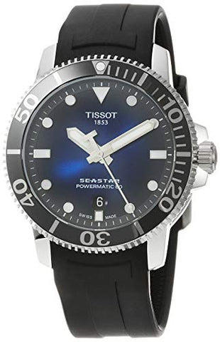 Tissot Seastar Watch 1000 Automatic Black Rubber Blue Dial T120.407.17.041.00