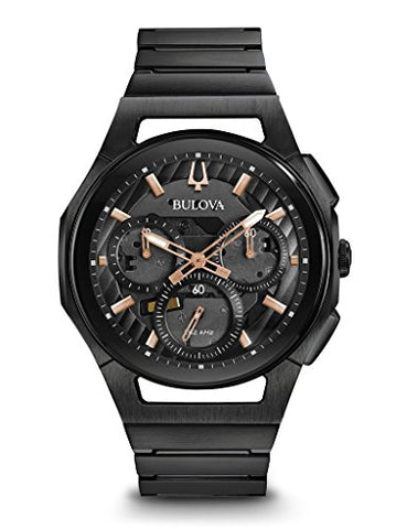 Bulova Men's Curv Bracelet - 98A207 Black One Size