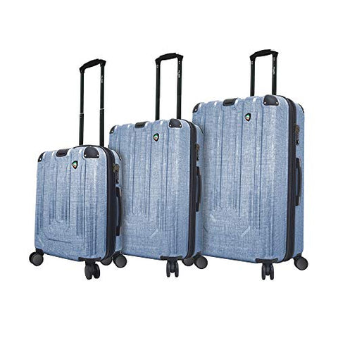 Mia Toro Italy Macchiolina Polish Hardside Spinner Luggage 3pc Set, Blue