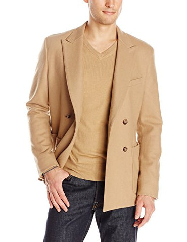 Jack Spade Men's Barlow Double-Breasted Blazer, Tan, 44