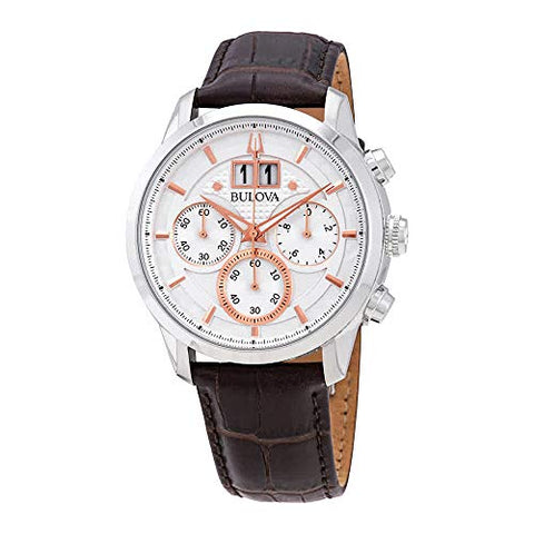 Bulova 96B309 Sutton Men's Watch Brown 44mm Stainless Steel