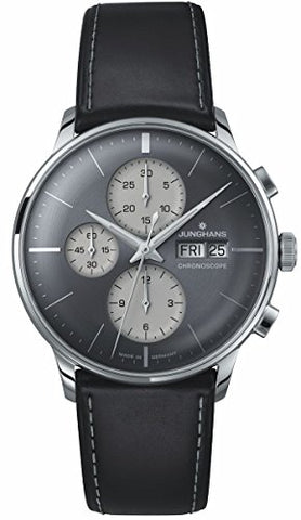 Junghans Meister Chronoscope Sunray Anthracite Grey Dial Day Date 027/4525.01