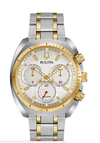 Bulova Men's Curv Watch Quartz Sapphire Crystal 98A156