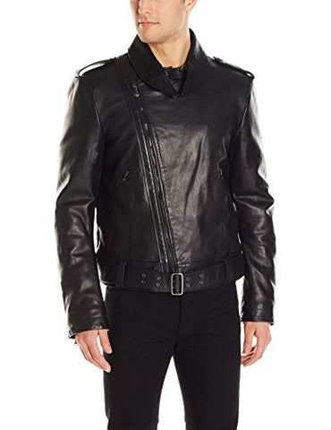 Vivienne Westwood Men's LeatherPortrait Biker Jacket, Black, 52