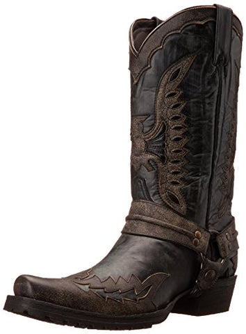 Stetson Men's Outlaw Eagle, Distressed Black, 9.5 M US
