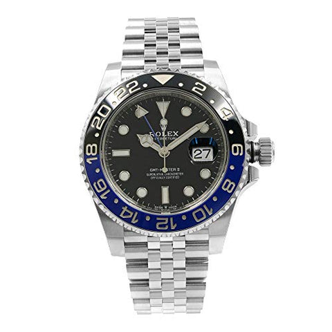 "Rolex GMT-Master II""Batman"" Black and Blue Bezel Automatic Men's Jubilee Watch 126710BKSJ"