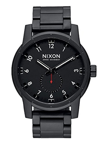 Nixon Men's A937001 Patriot Analog Display Swiss Quartz Black Watch