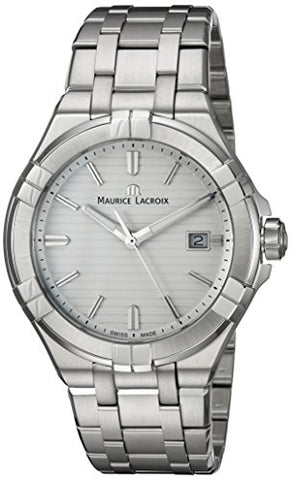 Maurice Lacroix Men's 'Aikon' Quartz Stainless Steel Casual Watch, Color:Silver-Toned (Model: AI1008-SS002-131-1