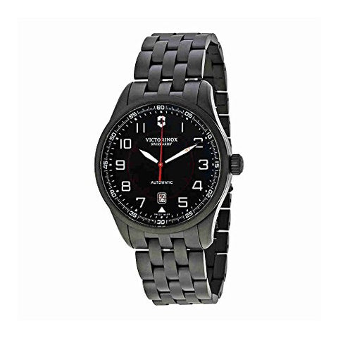 Victorinox Swiss Army Airboss Automatic Black Dial Mens Watch 241740