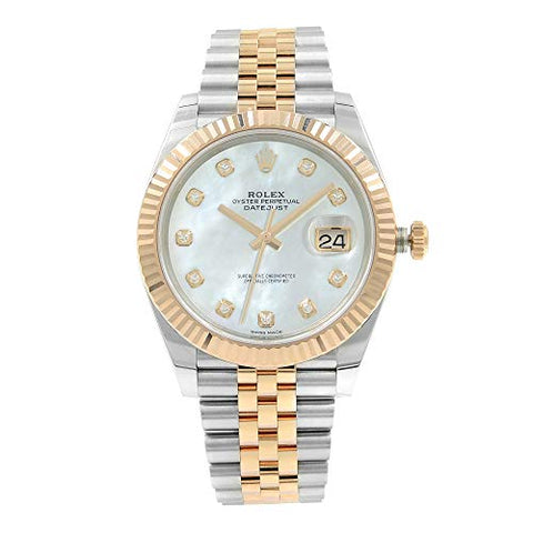 Rolex Datejust Automatic Diamond Mens Steel and 18ct Everose Gold Oyster Watch 126331MDO