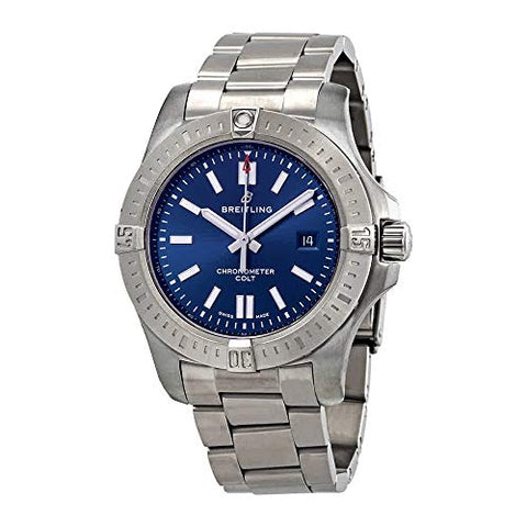 Breitling Chronomat Colt Automatic 44 Blue Dial Men's Watch A17388101C1A1