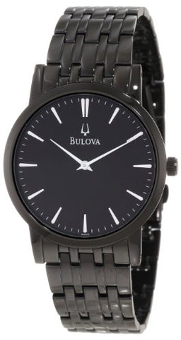 Bulova Men's 98A122 Black IP Watch