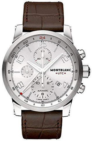 Montblanc Timewalker ChronoVoyager UTC Men's Brown Leather Strap Swiss Automatic Watch 107065