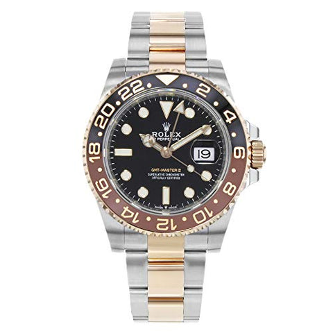Rolex GMT-Master II Black Dial Automatic Stainless Steel and 18kt Rose Gold 126711CHNR