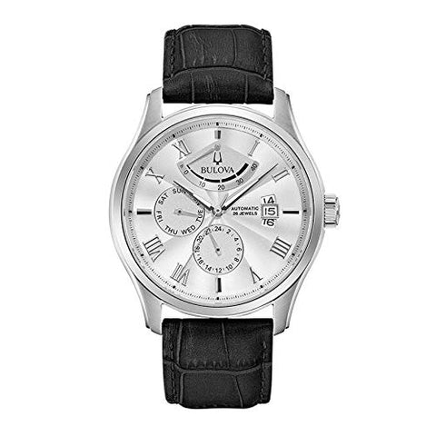 Bulova 96C141 Men's Classic Wilton Silver Tone Dial Quartz Watch
