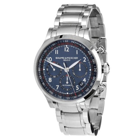 Baume & Mercier Men's MOA10066 Automatic Stainless Steel Blue Dial Chronograph Watch