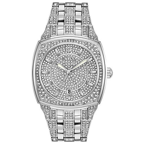Bulova Men's Quartz Stainless Steel Dress Watch, Color:Silver-Toned (Model: 96B296)