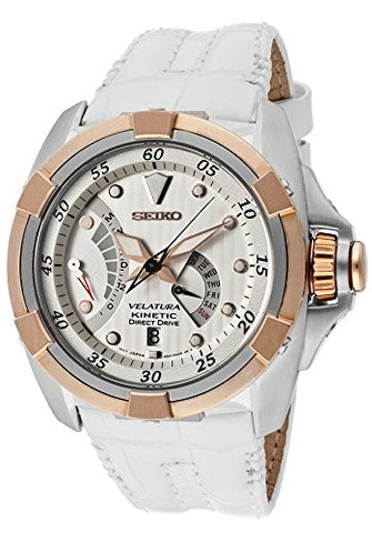 Seiko SRH014P1 Kinetic Velatura Direct Drive,Leather Strap,Sapphire,100m WR