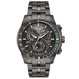 Men's Citizen Perpetual Chrono A-T Charcoal Grey Dial and Stainless Steel Bracelet Watch AT4127-52H