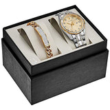 Bulova Men's Quartz Stainless Steel Dress Watch, Color:Gold-Toned (Model: 98K106)