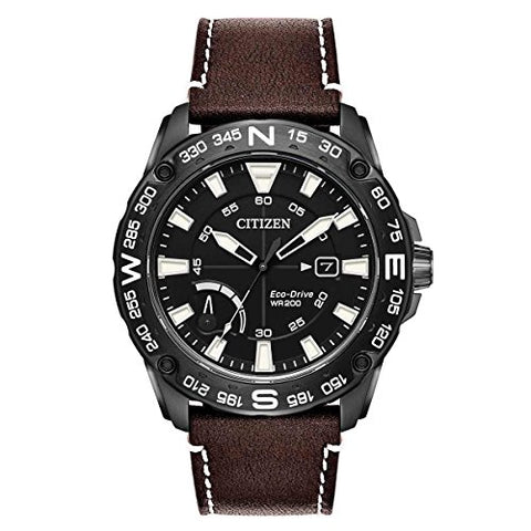 Citizen Watches Men's AW7045-09E Eco-Drive Brown One Size