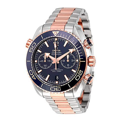 Omega Seamaster Planet Ocean Chronograph Sedna Gold Automatic Mens Watch 215.20.46.51.03.001