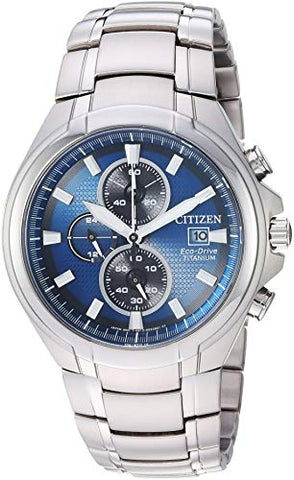 Citizen Men's Eco-Drive Quartz Titanium Strap, Silver, 24 Casual Watch (Model: CA0700-51L)