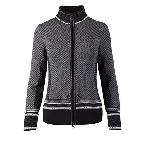 Dale of Norway Viktoria Jacket, Dark Charcoal/Off White/Light Charcoal/Smoke, X-Large