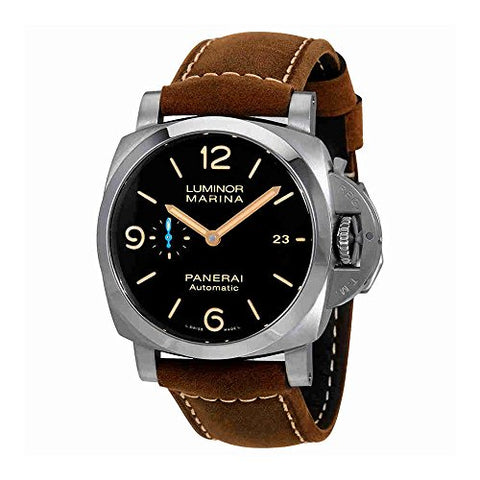 Panerai Luminor Marina 1950 Brown Dial Automatic Mens Brown Leather Watch PAM01351