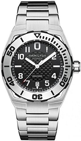 Hamilton Men's H78615135 Khaki Navy Sub Analog Display Automatic Self Wind Silver Watch