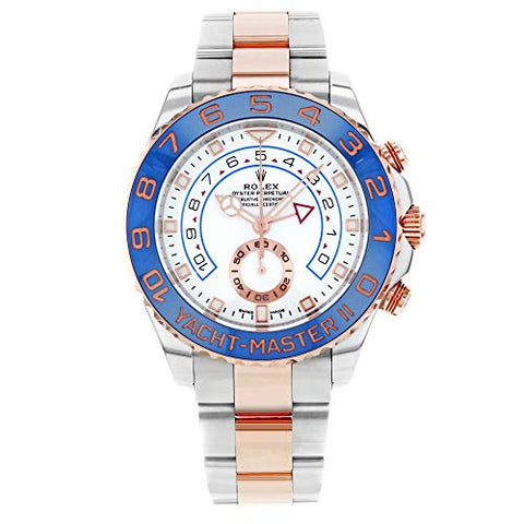 Rolex Yacht-Master II Chronograph Automatic White Dial Mens Steel and 18K Everose Gold Watch 116681-0002