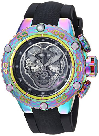 Invicta Men's 'Subaqua' Quartz Stainless Steel and Silicone Casual Watch, Color:Black (Model: 25429)