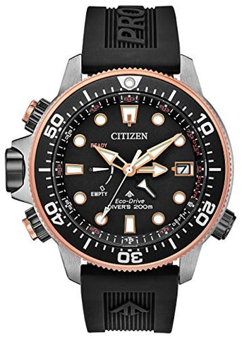 Citizen Promaster Aqualand BN2037-03E Mens Black Polyurethane Band Black Quartz Dial Watch