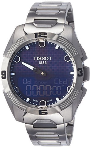 Tissot Mens T091.420.44.041.00 T-touch Expert Solar Blue Dial Titanium  Watch