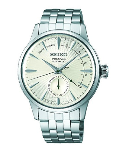 "SEIKO PRESAGE Power Reserve Silver Cocktail Time ""Martini"" SSA341J1"