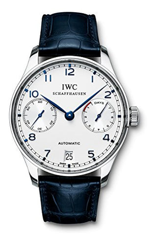 IWC Men's Swiss Automatic Stainless Steel Casual Watch, Color:Black (Model: IW500107)