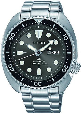 "SEIKO PROSPEX ""Turtle"" Diver's 200M Automatic Watch Grey Sunburst Dial SRPC23K1"