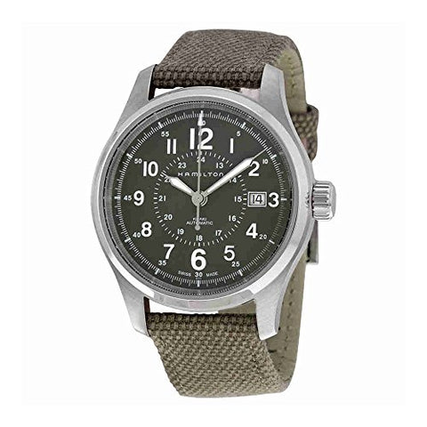 Hamilton H70595963 Khaki Field Automatic Mens Watch - Green Dial