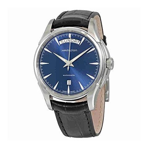 Hamilton H32505741 Jazzmaster Blue Dial Black Leather Men's Watch