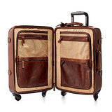 Moore and Giles Parker Baldwin Oak Leather Carry-On Suitcase
