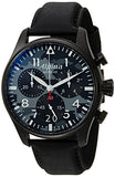 Alpina Men's 'Startimer' Swiss Quartz Stainless Steel and Leather Casual Watch, Color:Black (Model: AL-372BMLY4FBS6)