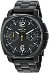 Nixon Men's 'Charger Chrono' Quartz Metal and Stainless Steel Watch, Color:Black (Model: A1071001-00)