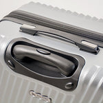 Mia Toro Italy Roulgatti Hardside Spinner Luggage 3pc Set,Silver
