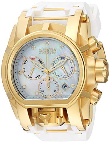 Invicta Men's 'Reserve' Quartz Stainless Steel and Silicone Watch, Color:Two Tone (Model: 26714)